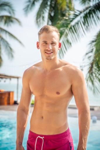 Christophe (23) uit Wuustwezel is een van de verleiders van 'Temptation island'