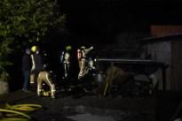 Brand in houtopslagruimte