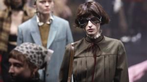 Omgekeerde zonnebrillen, veel ruches en een vleugje disco: dit was Gucci op de modeweek in Milaan