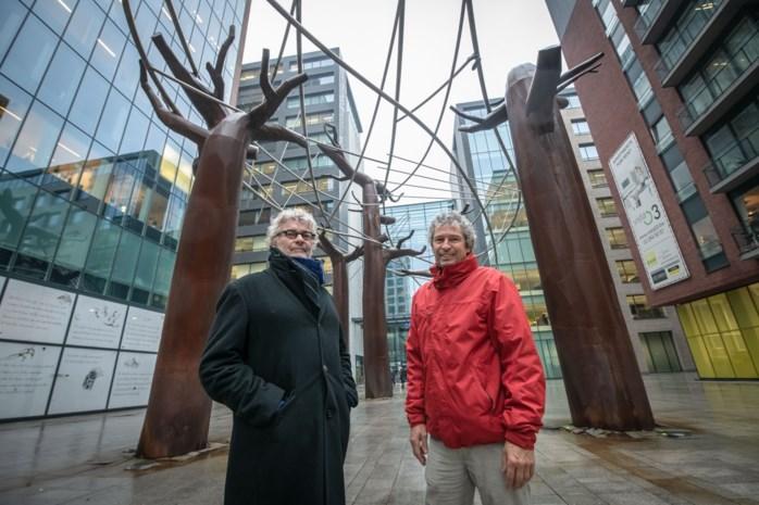 Kunstwerk op Kievitplein raakt niet af zoals gepland: stad ziet geen manier om planten op baobabs te laten gedijen