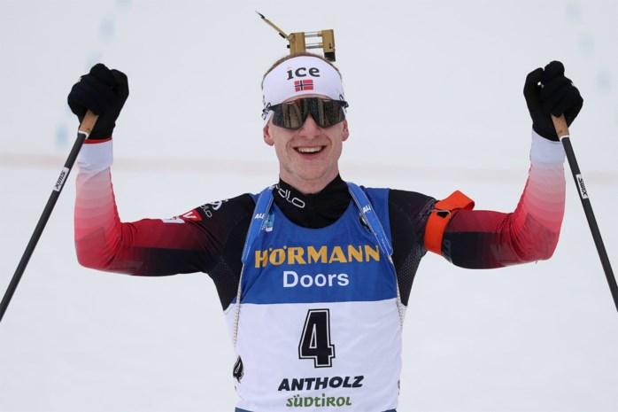 Noor Johannes Thingnes Boe pakt in massastart derde gouden medaille op WK biatlon