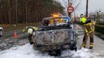 Bestuurders verwittigen man voor vlammen in laadruimte: wagen brandt uit