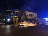 E313 dicht door brandende vrachtwagen