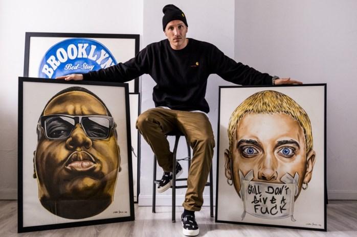 Ex-basketter uit Kapellen verovert Amerika met portretten van hiphopsterren