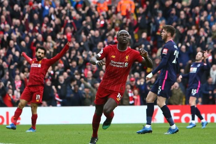 Liverpool wint met het kleinste verschil van degradatiekandidaat Bournemouth