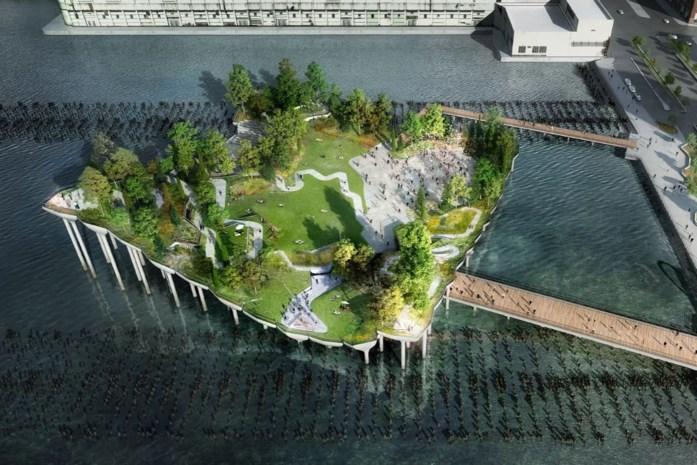 Little Island open voor New Yorkers in lente van 2021