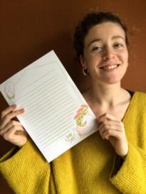 """Kempense illustratoren ontwerpen gratis downloadbaar briefpapier: """"Blijf thuis en schrijf een échte brief"""""""
