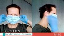 Hoe draag je een mondmasker en handschoenen juist? Deze docenten leggen uit