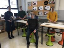 """School maakt 950 gelaatsmaskers voor de zorg: """"Fantastisch om solidariteit te zien"""""""