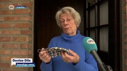 Creatieve 85-jarige maakt modieuze en veilige mondmaskers