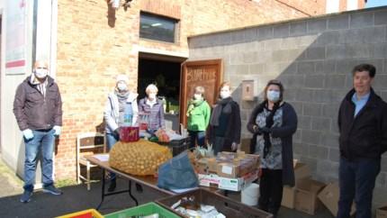 Voedselpakketten voor gezinnen in nood