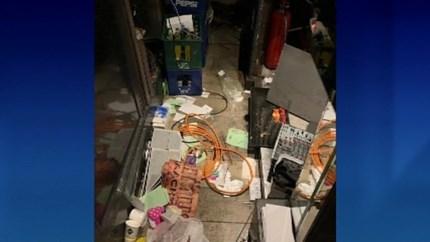 Inbreker zorgt voor totale ravage in populair danscafé op Koningin Astridplein