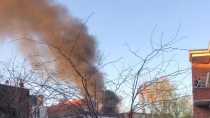 Uitslaande brand in dakappartement