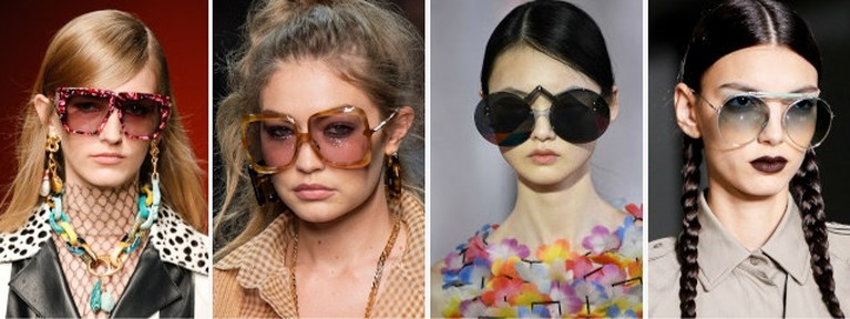 Piepklein, wit of gekleurd: de hipste zonnebrillen op een rij