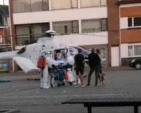 Helikopter landt in centrum Mol om patiënt snel over te brengen