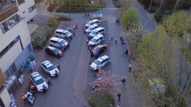 Indrukwekkende politiestoet trekt naar spoedafdeling