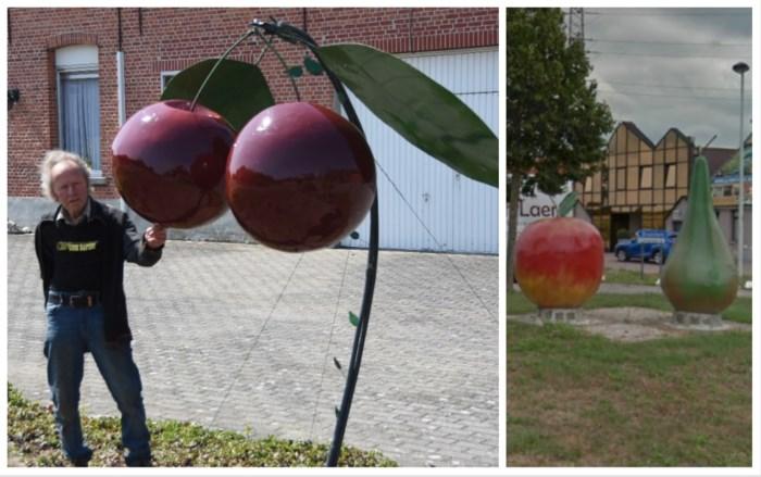 Na 'appel en peer' heeft Broechem nu ook een kersenmonument