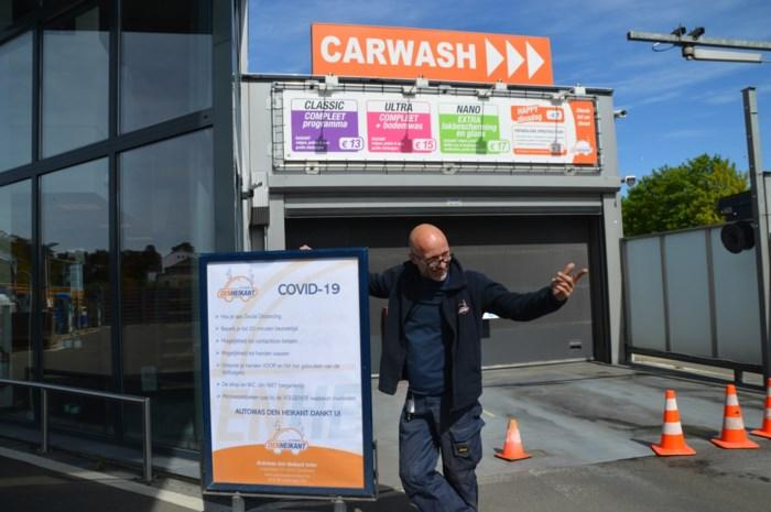 """Enige carwash die al openging, is alweer gesloten: """"'t Is pis of 't is kak"""""""