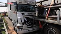 Drie vrachtwagens crashen, voor het eerst sinds lang nog eens een file op E17