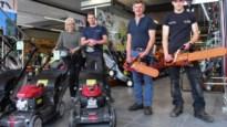 Eindelijk eerste klanten in showroom van tuinmachines Oris-Wuyts