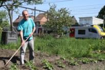 """Jef Hermans tuiniert al jaren tussen spoorweg en fietsostrade: """"Het lawaai van de treinen stoort me niet"""""""