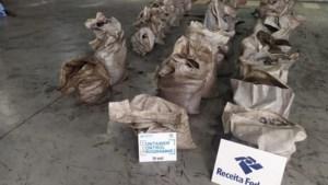 Halve ton cocaïne voor Antwerpse haven onderschept in Brazilië