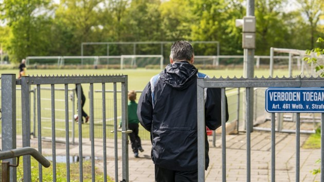 Vier sportveldjes openen opnieuw, sportteam houdt toezicht