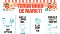 Zaterdagse markt via vier toegangen bereikbaar