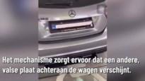 Opvallend filmpje op sociale media: chauffeur laat nummerplaat draaien met afstandsbediening