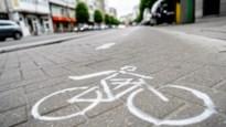 Politie betrapt personen die nieuw stukje fietspad schilderen op Turnhoutsebaan