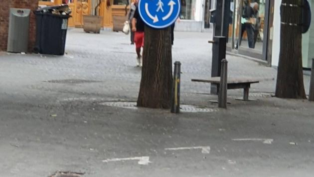 Antwerpen introduceert: de rotonde voor voetgangers