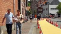 Brede gele fietssuggestiestroken moeten schoolomgeving nog veiliger maken