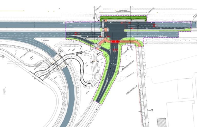 Nieuw kruispunt op N16 moet toekomstig winkelpark Malinas ontsluiten