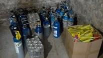 23 flessen lachgas in beslag genomen bij controle van garage in Borgerhout