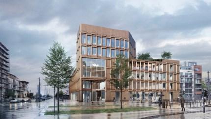 Open grasveldje op Eilandje verdwijnt: nieuwe eigenaar bouwt er kantoren en horeca