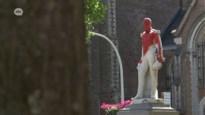 Standbeeld Leopold II in Ekeren opnieuw besmeurd, deze keer met rode verf