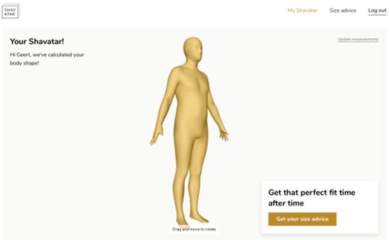 Antwerpse 3D-tool Shavatar maakt het mogelijk om vanop afstand kledij op jouw maat te kopen
