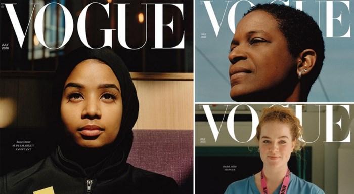Geen topmodellen, wel alledaagse helden op nieuwe Vogue-cover