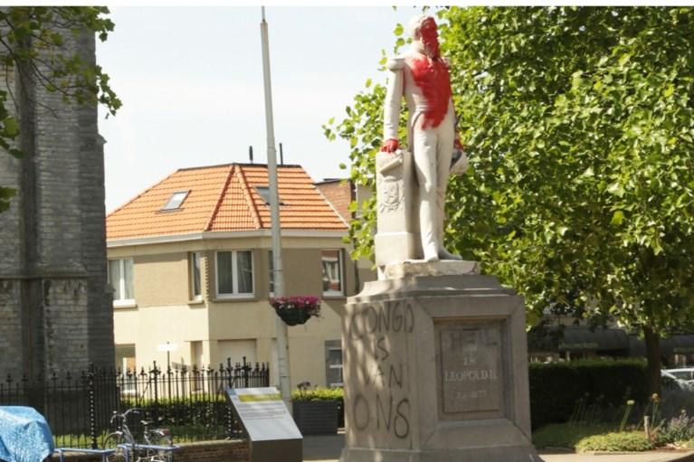 Standbeeld Leopold II in Ekeren in brand gestoken: schade lijkt nu onherstelbaar