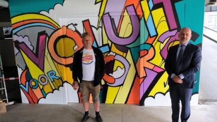 Graffitikunst om personeel te danken