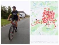 Burgemeester fietst door alle straten van zijn gemeente (goed voor 122 kilometer)
