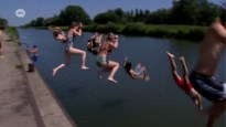 Frisse duik mag, zonnebaden is verboden