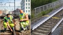 Infrabel schildert treinsporen wit om gevaarlijke opwarming tegen te gaan