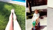 Gluren bij BV's: De benen van Clara Cleymans maken kennis met de zon en het babybuikje van Lesley-Ann Poppe