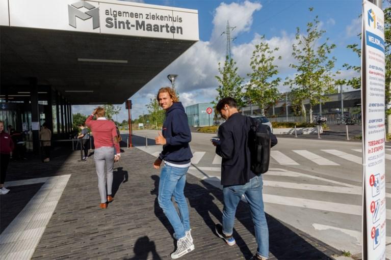 Gaëtan Coucke in Mechelen voor medische testen