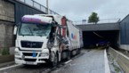 Bevrijdingstunnel tijdlang afgesloten na ongeval met vrachtwagen