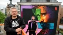 Niet te missen: Matthias Schoenaerts als muurschildering in Antwerpen