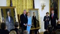 Trump verbant schilderijen Clinton en Bush