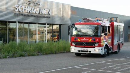 Brandalarm in sanitairzaak