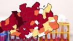 KAART. 37 Antwerpse en 6 Wase gemeenten boven alarmdrempel